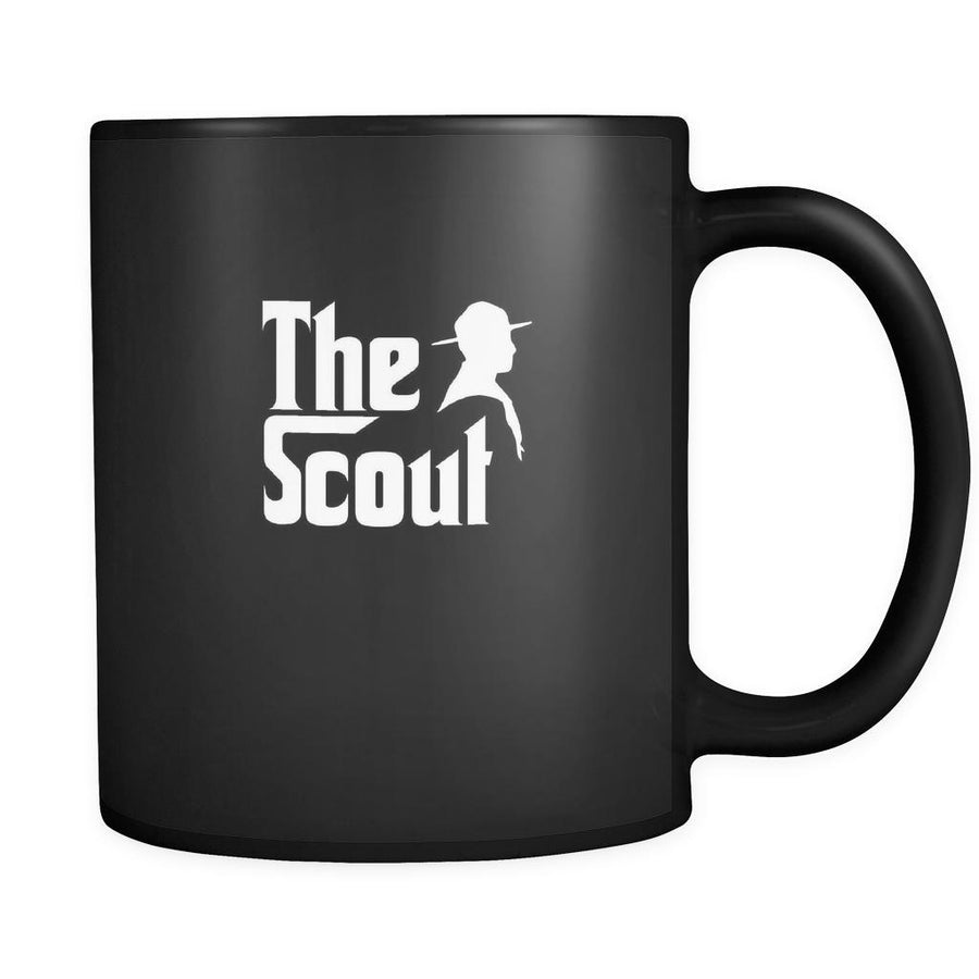 Scouting The Scout 11oz Black Mug-Drinkware-Teelime | shirts-hoodies-mugs