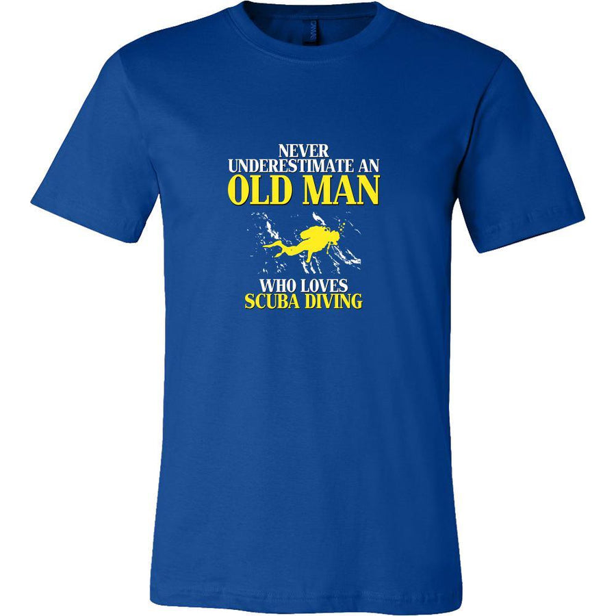 Scuba Diving Shirt - Never underestimate an old man who loves scuba diving Grandfather Hobby Gift-T-shirt-Teelime | shirts-hoodies-mugs