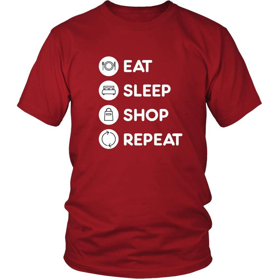 Shopping - Eat Sleep Shop Repeat - Shopping Hobby Shirt-T-shirt-Teelime | shirts-hoodies-mugs