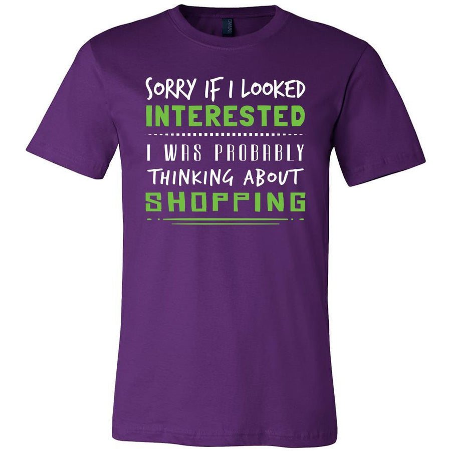 Shopping Shirt - Sorry If I Looked Interested, I think about Shopping - Hobby Gift-T-shirt-Teelime | shirts-hoodies-mugs