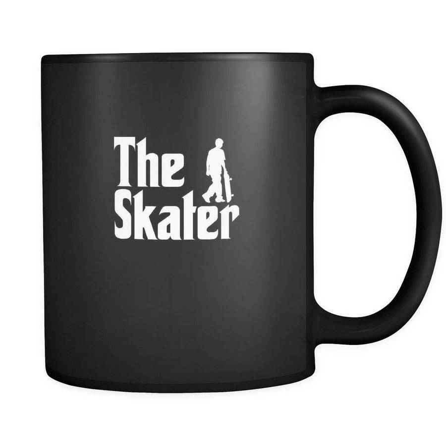 Skateboarding The Skater 11oz Black Mug-Drinkware-Teelime | shirts-hoodies-mugs