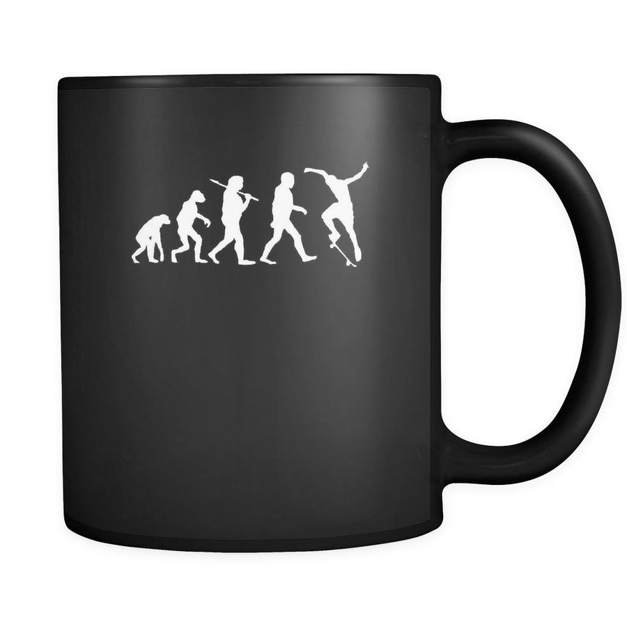 Skaters Evolution 11oz Black Mug-Drinkware-Teelime | shirts-hoodies-mugs