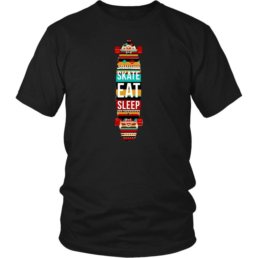 Skaters T Shirt - Eat Sleep Skate Repeat-T-shirt-Teelime | shirts-hoodies-mugs