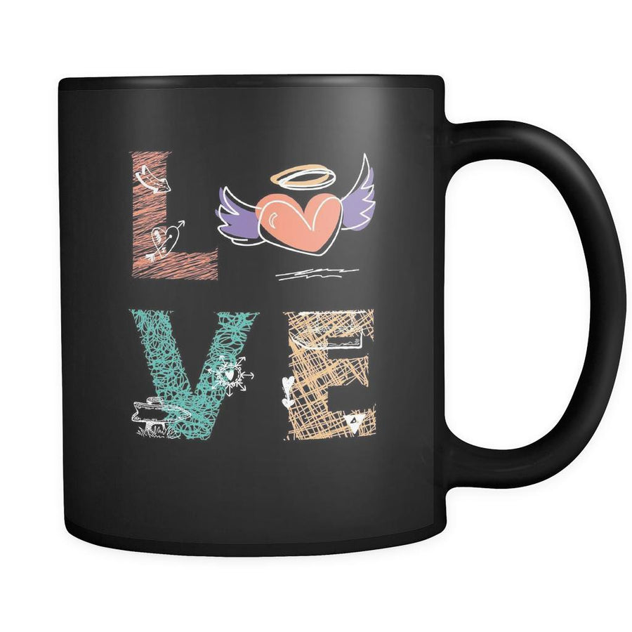 Sketching - LOVE Sketching - 11oz Black Mug-Drinkware-Teelime | shirts-hoodies-mugs