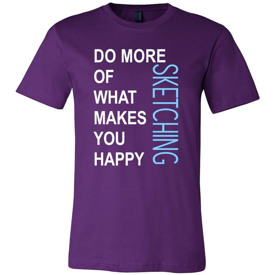 Sketching Shirt - Do more of what makes you happy Sketching- Hobby Gift-T-shirt-Teelime | shirts-hoodies-mugs