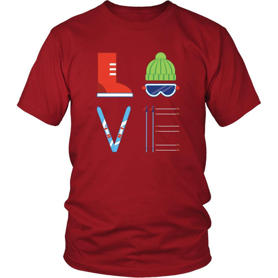 Skiing - LOVE Skiing  - Ski Hobby Shirt