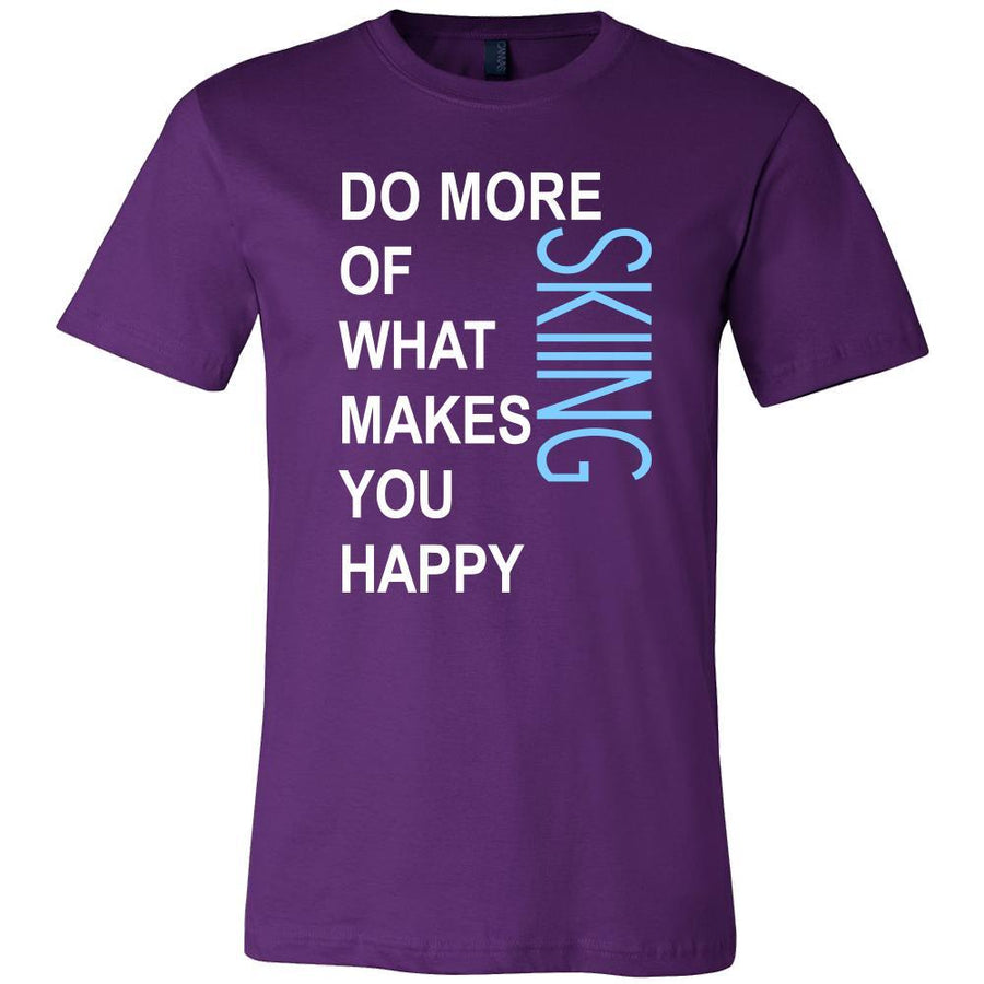 Skiing Shirt - Do more of what makes you happy Skiing- Hobby Gift-T-shirt-Teelime | shirts-hoodies-mugs