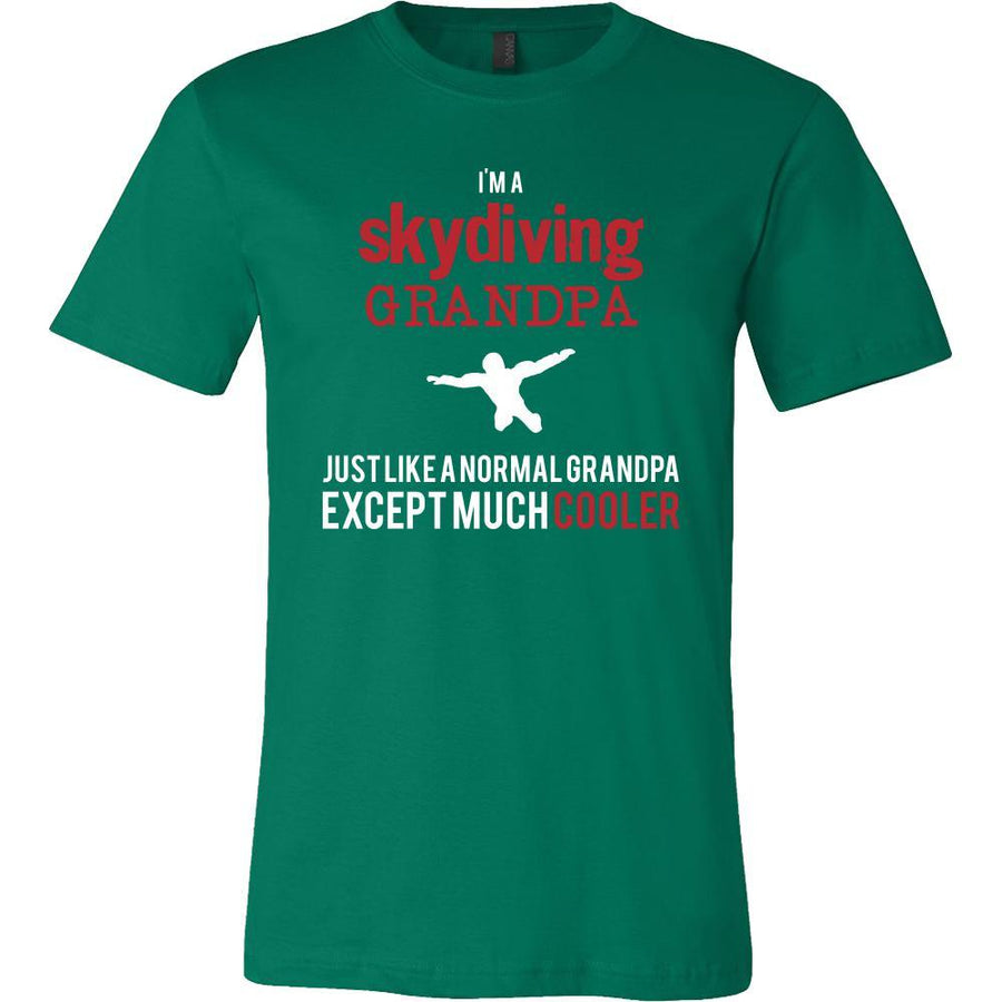 Skydiving Shirt - I'm a skydiving grandpa just like a normal grandpa except much cooler Grandfather Hobby Gift-T-shirt-Teelime | shirts-hoodies-mugs