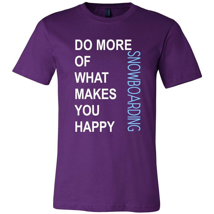 Snowboarding Shirt - Do more of what makes you happy Snowboarding- Hobby Gift-T-shirt-Teelime | shirts-hoodies-mugs
