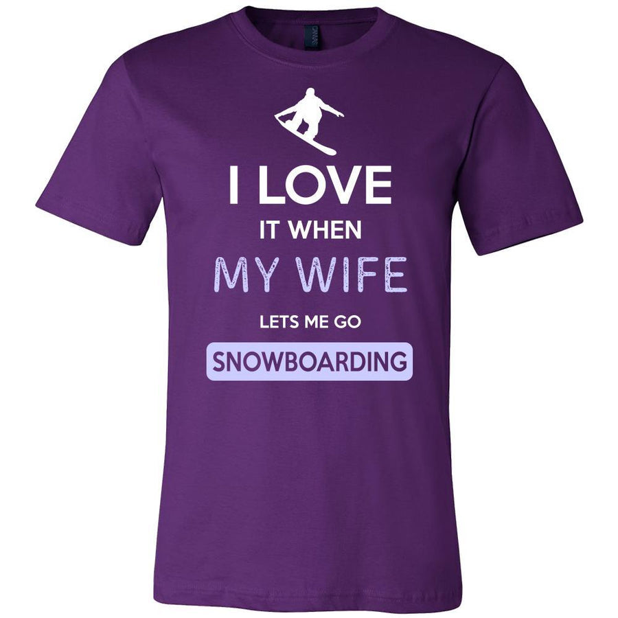Snowboarding Shirt - I love it when my wife lets me go Snowboarding - Hobby Gift-T-shirt-Teelime | shirts-hoodies-mugs