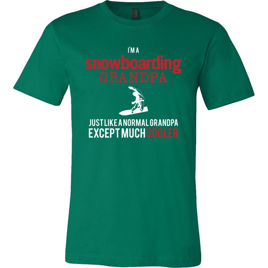 Snowboarding Shirt - I'm a snowboarding grandpa just like a normal grandpa except much cooler Grandfather Hobby Gift-T-shirt-Teelime | shirts-hoodies-mugs