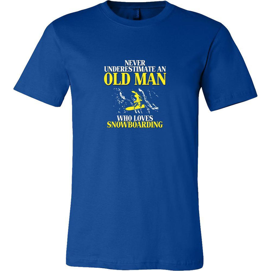 Snowboarding Shirt - Never underestimate an old man who loves snowboarding Grandfather Hobby Gift-T-shirt-Teelime | shirts-hoodies-mugs