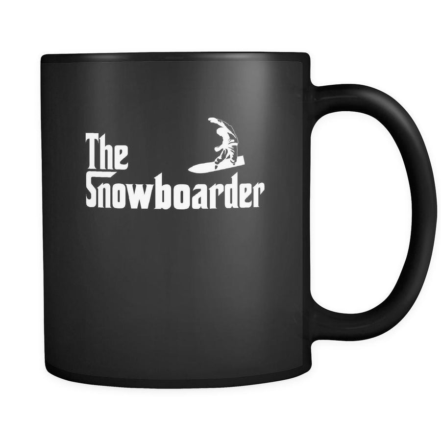 Snowboarding The Snowboarder 11oz Black Mug-Drinkware-Teelime | shirts-hoodies-mugs