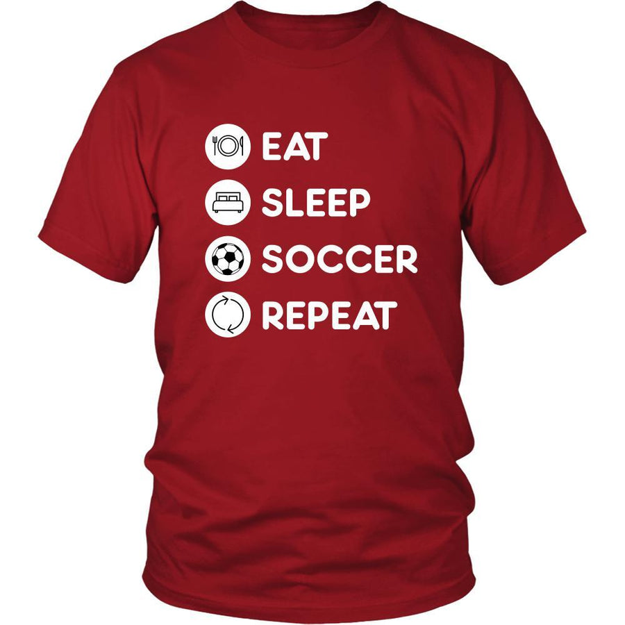 Soccer - Eat Sleep Soccer Repeat - Soccer Sport Shirt-T-shirt-Teelime | shirts-hoodies-mugs