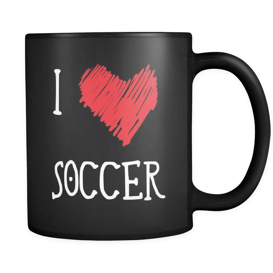 Soccer I Love Soccer 11oz Black Mug-Drinkware-Teelime | shirts-hoodies-mugs