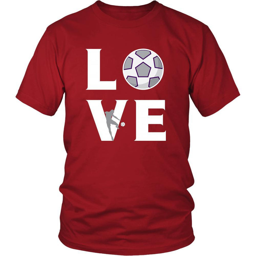 Soccer - LOVE Soccer - Sport Player Shirt-T-shirt-Teelime | shirts-hoodies-mugs