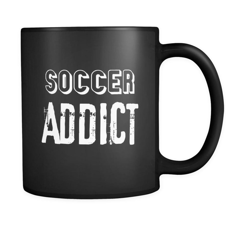 Soccer Soccer Addict 11oz Black Mug-Drinkware-Teelime | shirts-hoodies-mugs