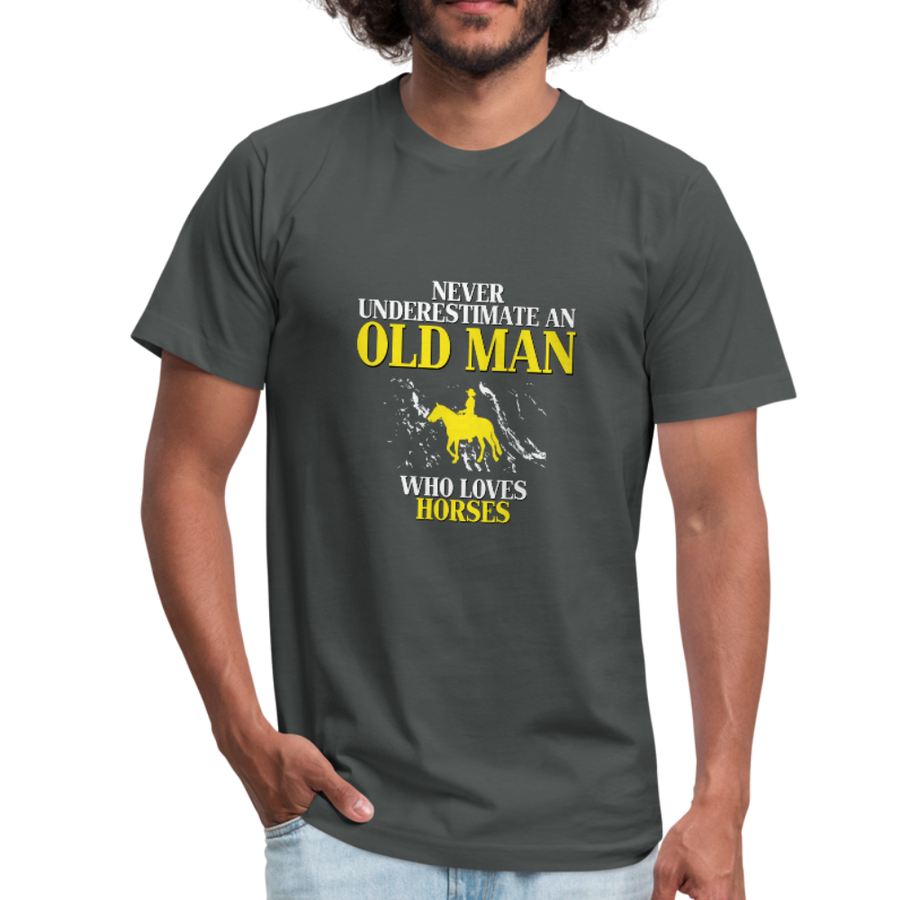 Horse Shirt - Never underestimate an old man who loves horses Unisex Canvas T-Shirt-Unisex Jersey T-Shirt by Bella + Canvas-Teelime | shirts-hoodies-mugs