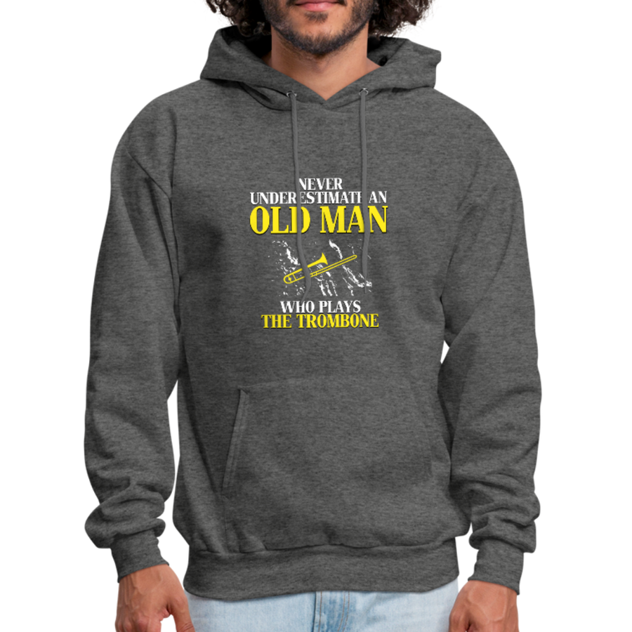 Never Underestimate an Old Man Who Plays the Trombone Unisex Hoodie-Men's Hoodie-Teelime | shirts-hoodies-mugs