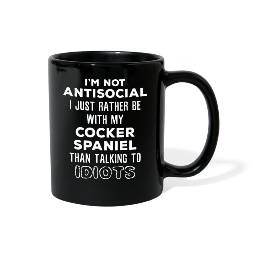 Cocker Spaniel I'm Not Antisocial I Just Rather Be With My Cocker Spaniel Full Color Mug-Full Colour Mug | Printequipment-Teelime | shirts-hoodies-mugs