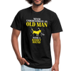 Never Underestimate an Old Man With a Basset Hound Unisex Canvas T-Shirt-Unisex Jersey T-Shirt | Bella + Canvas 3001-Teelime | shirts-hoodies-mugs