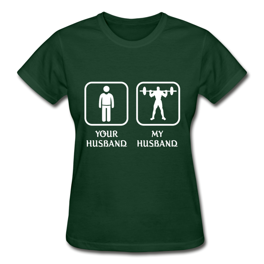Weightlifting -  Your husband My husband Gildan Ultra Cotton Ladies T-Shirt