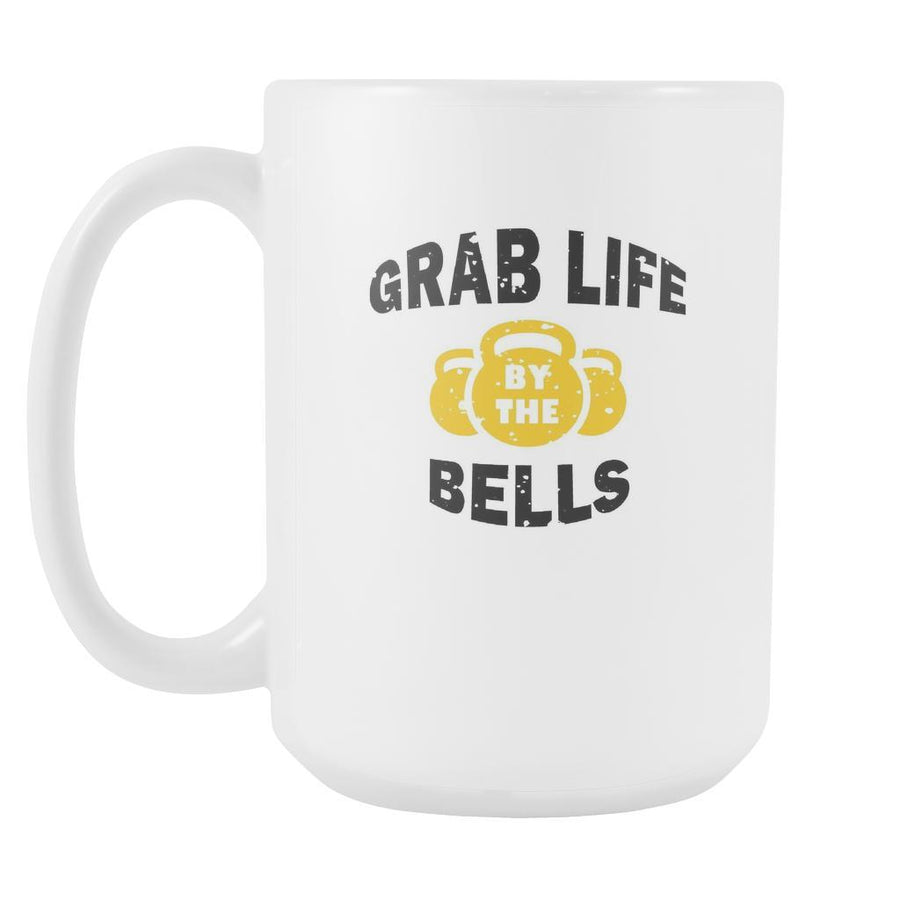 Fitness Coffee Cup - Grab life by the bells-Drinkware-Teelime | shirts-hoodies-mugs