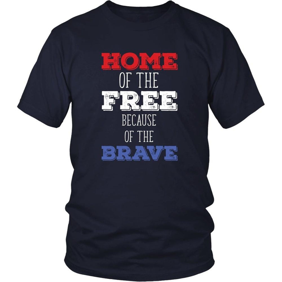 State T Shirt - Home of the Free because of the Brave-T-shirt-Teelime | shirts-hoodies-mugs