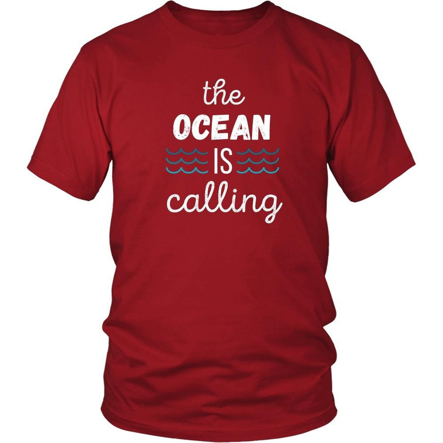 Surf T Shirt - The Ocean is calling-T-shirt-Teelime | shirts-hoodies-mugs