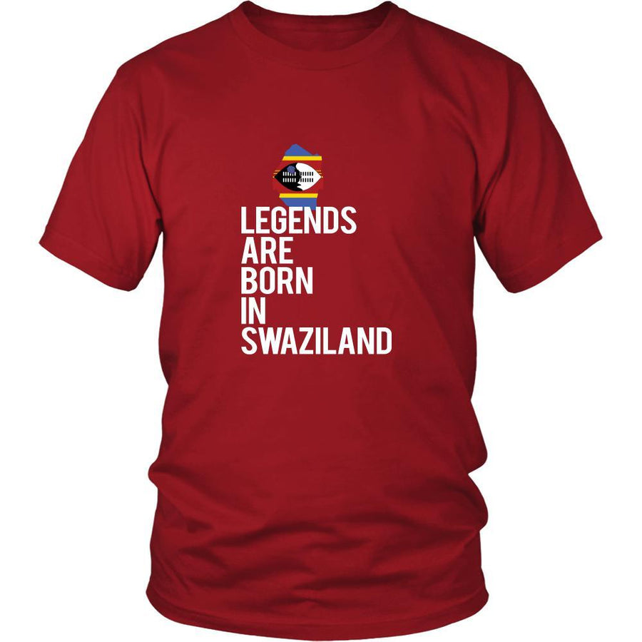 Swaziland Shirt - Legends are born in Swaziland - National Heritage Gift-T-shirt-Teelime | shirts-hoodies-mugs