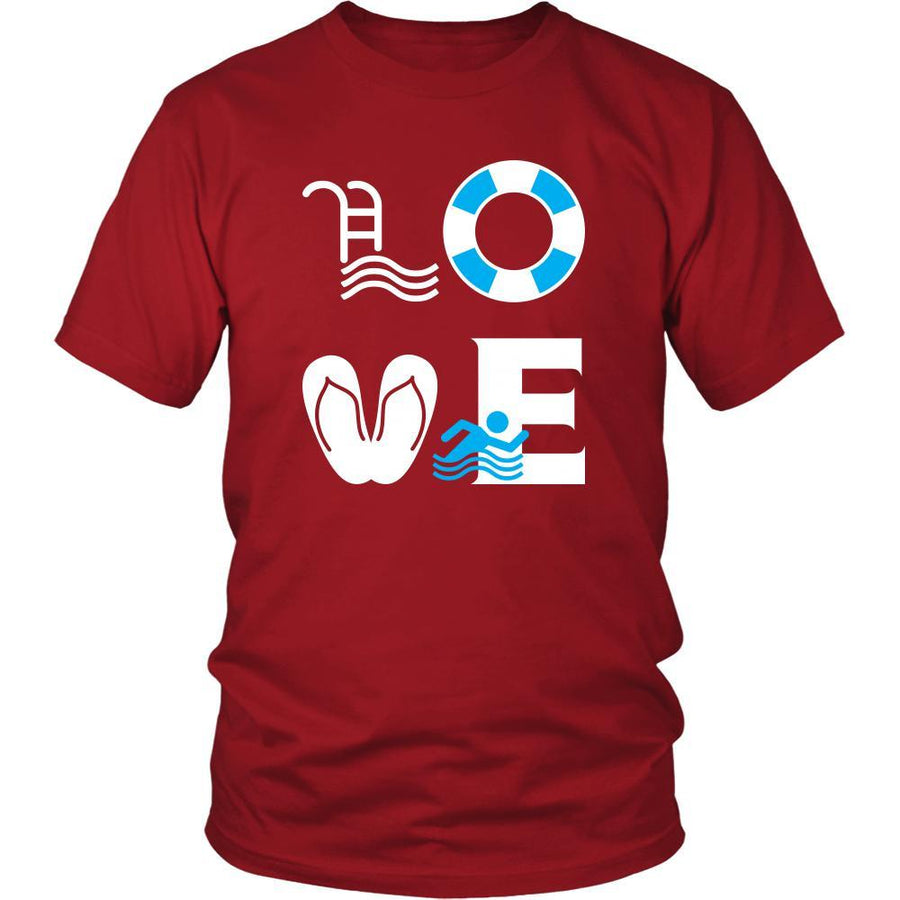 Swimming - LOVE Swimming  - Swimmer Hobby Shirt