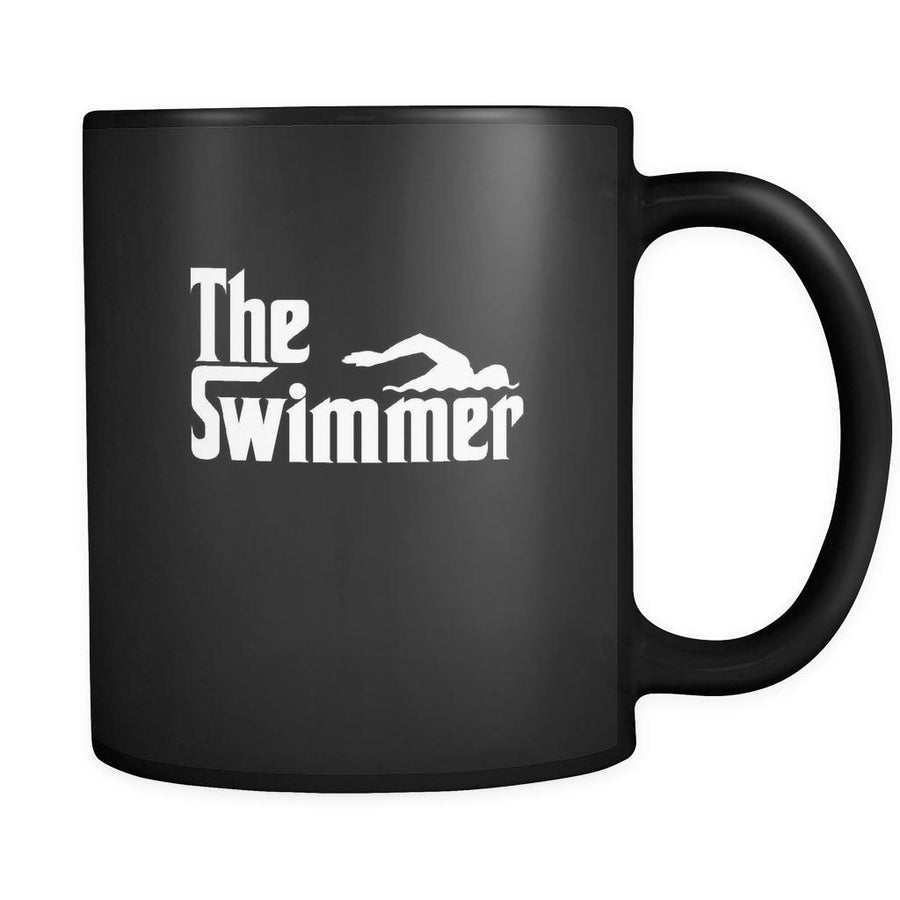 Swimming The Swimmer 11oz Black Mug-Drinkware-Teelime | shirts-hoodies-mugs