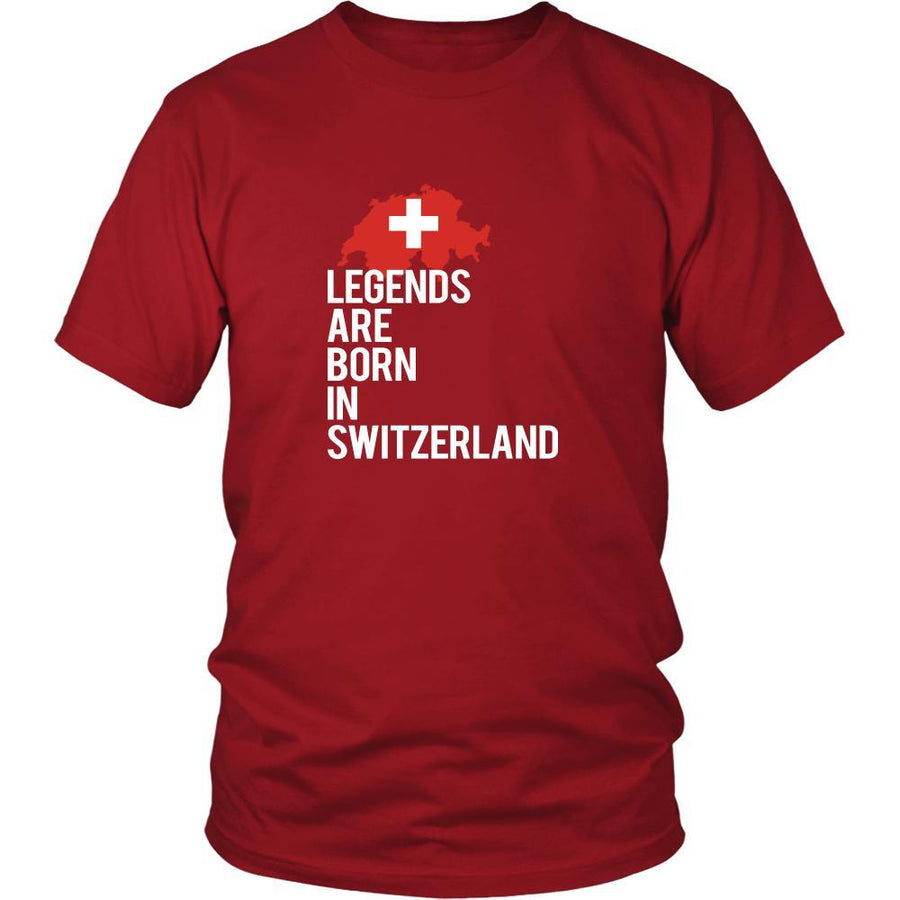 Switzerland Shirt - Legends are born in Switzerland - National Heritage Gift-T-shirt-Teelime | shirts-hoodies-mugs