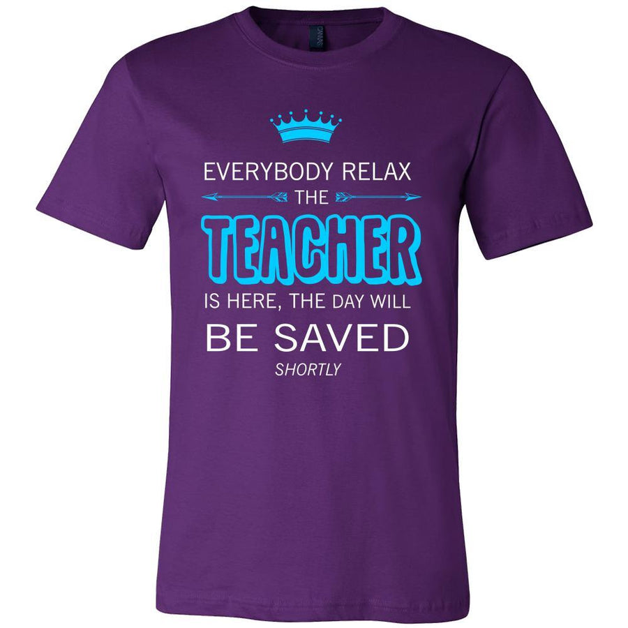 Teacher Shirt - Everyone relax the Teacher is here, the day will be save shortly - Profession Gift-T-shirt-Teelime | shirts-hoodies-mugs