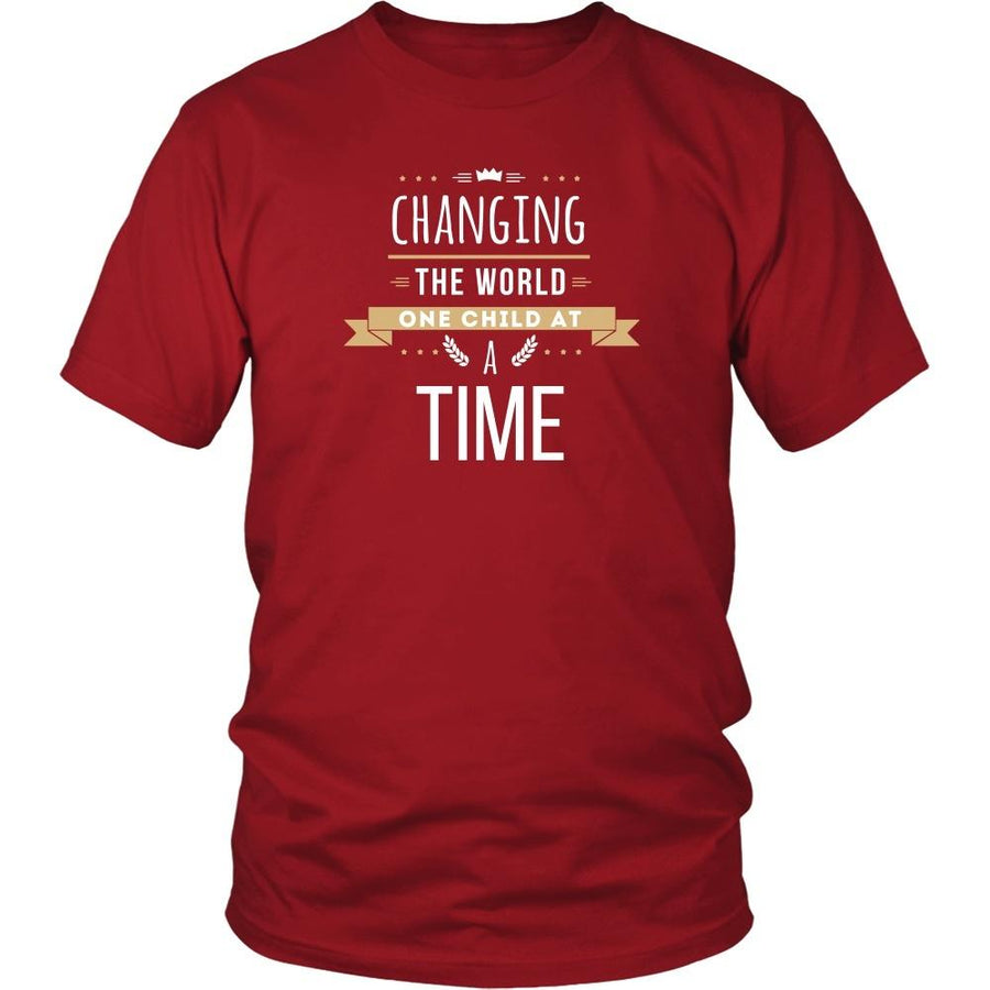 Teachers T Shirt - Changing the world One child at a Time
