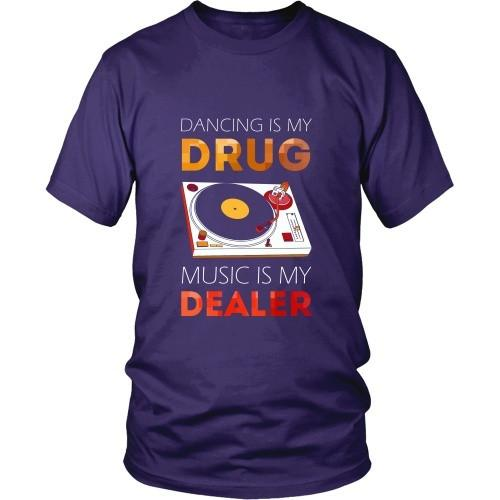 Techno T Shirt - Dancing is my Drug, Music is my Dealer