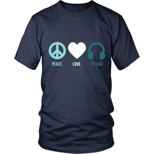 Techno T Shirt - Peace Love Techno-T-shirt-Teelime | shirts-hoodies-mugs