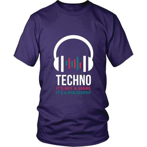 Techno T Shirt - Techno It's not a genre It's a philosophy-T-shirt-Teelime | shirts-hoodies-mugs