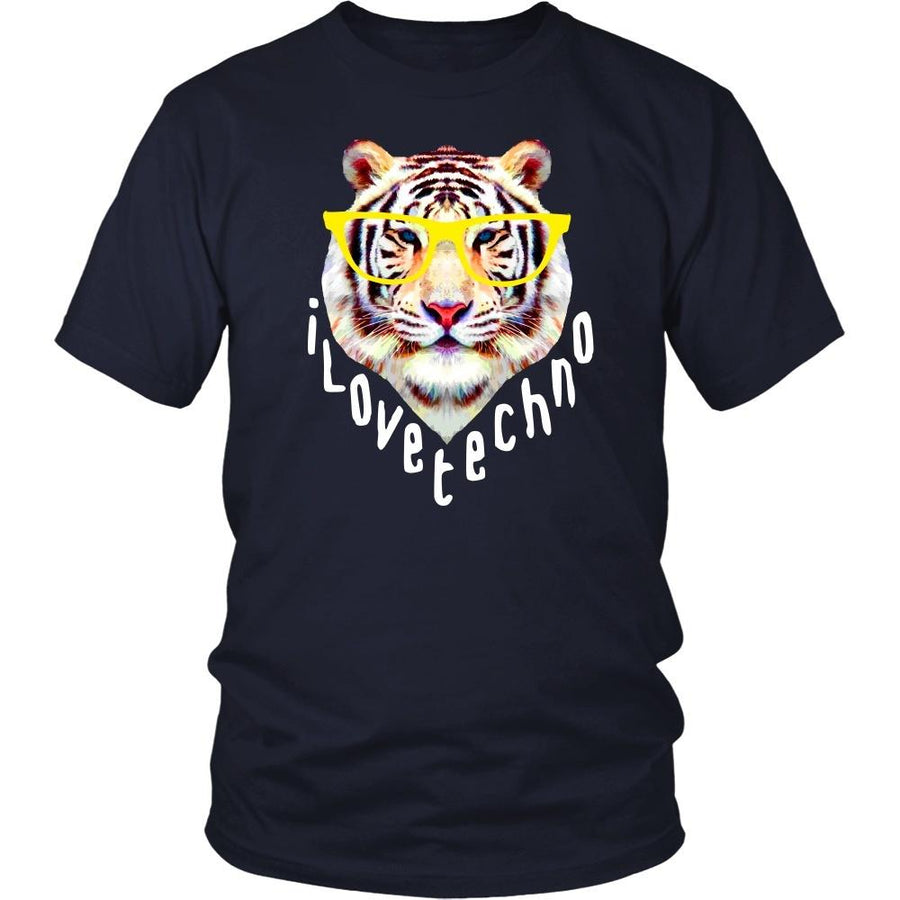 Techno Tiger T Shirt-T-shirt-Teelime | shirts-hoodies-mugs
