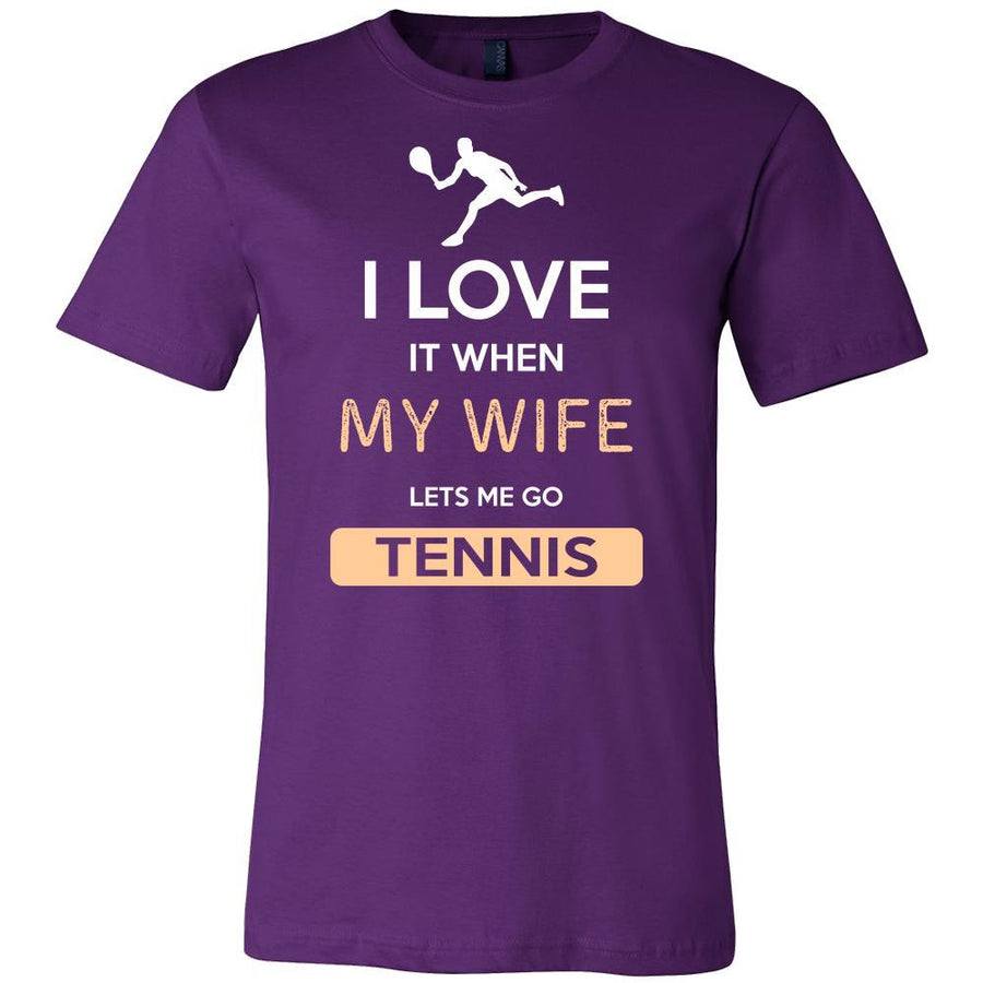 Tennis Shirt - I love it when my wife lets me go Tennis - Hobby Gift-T-shirt-Teelime | shirts-hoodies-mugs