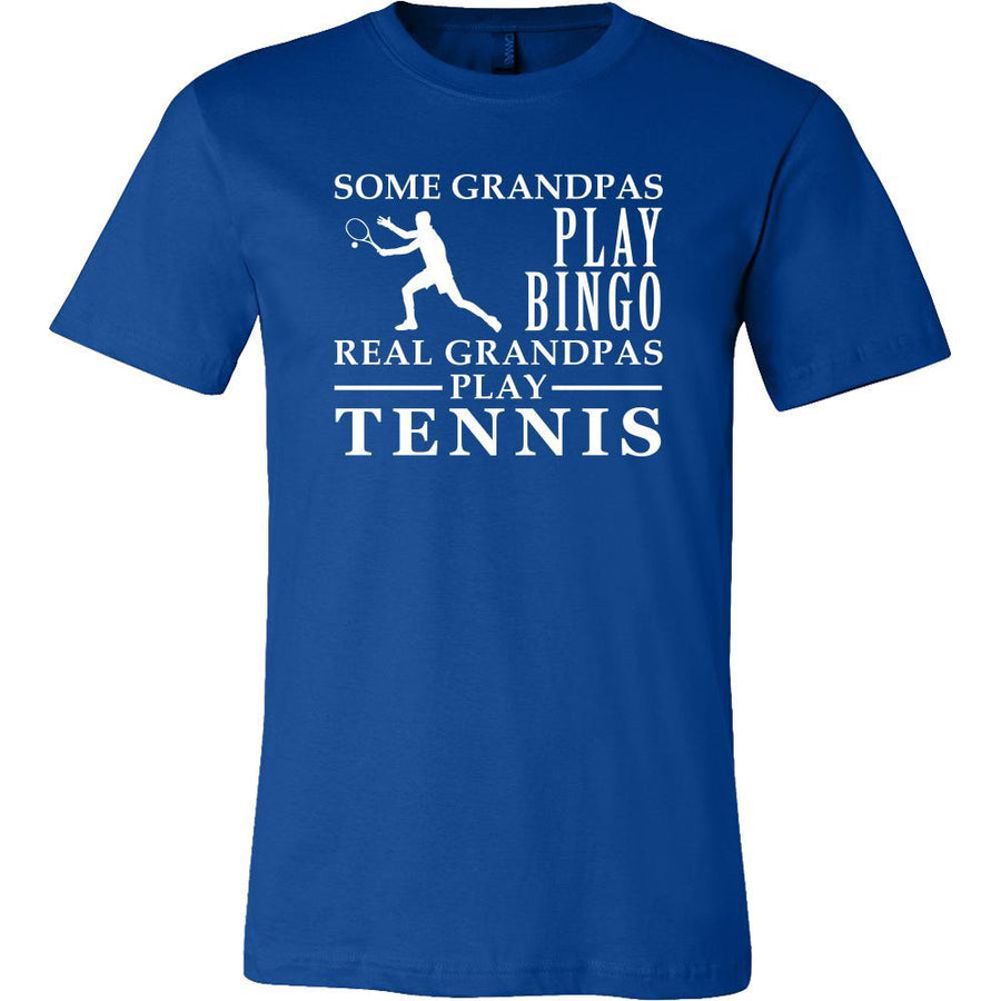 Tennis Shirt Some Grandpas play bingo, real Grandpas go Tennis Family Hobby-T-shirt-Teelime | shirts-hoodies-mugs