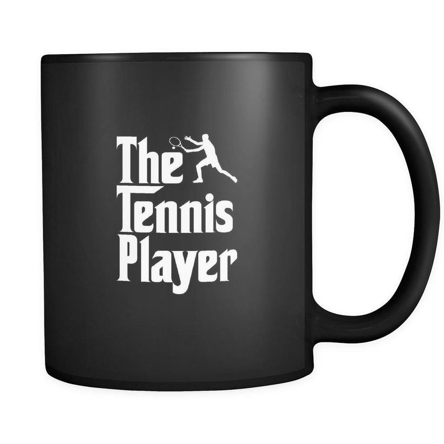 Tennis The Tennis Player 11oz Black Mug-Drinkware-Teelime | shirts-hoodies-mugs