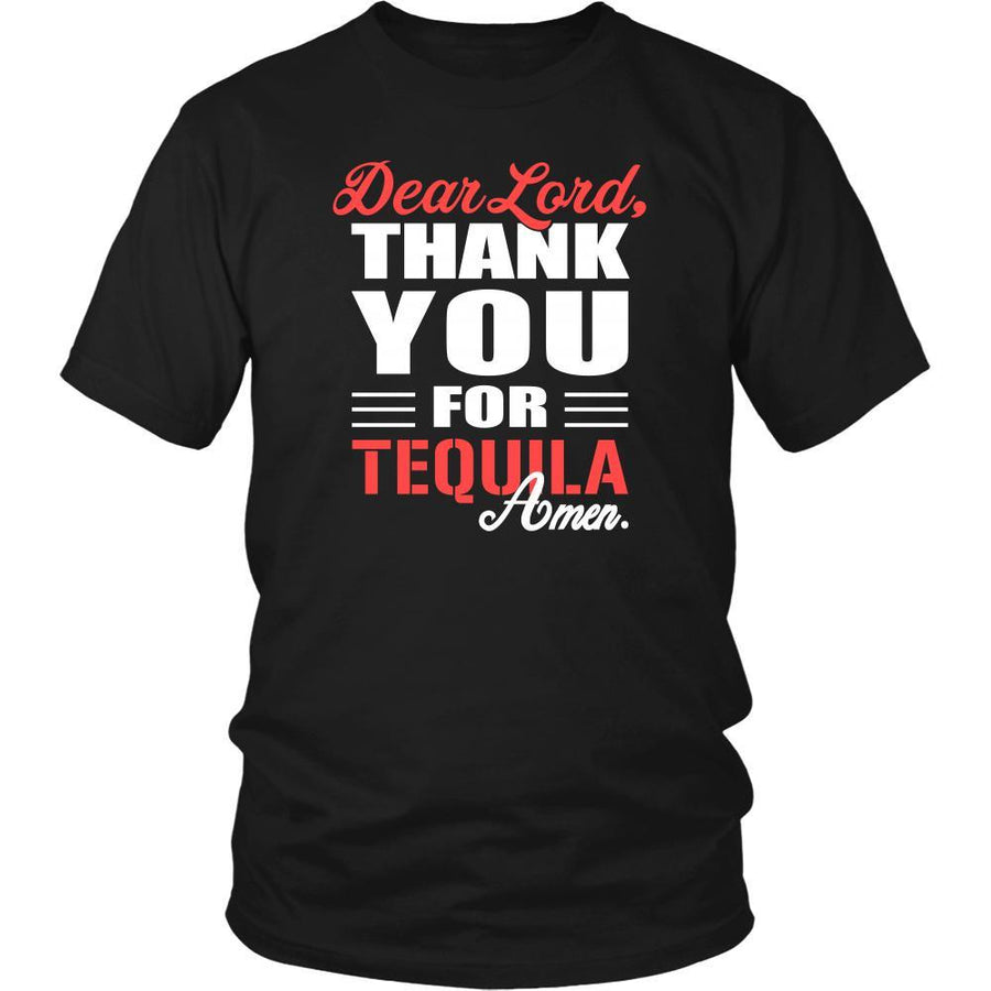 Tequila Shirt - Dear Lord, thank you for Tequila Amen- Drink Lover-T-shirt-Teelime | shirts-hoodies-mugs
