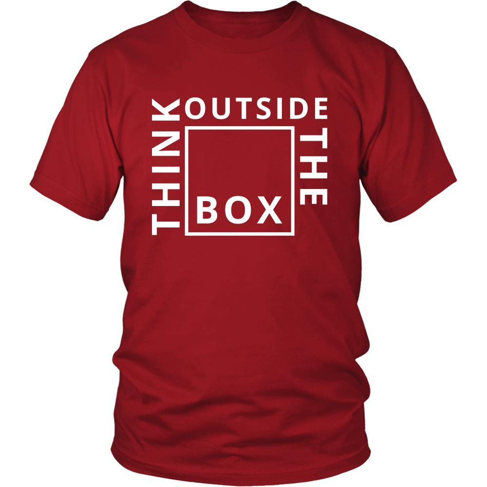 0b40f6e77 Think - Think Outside the box - Think Funny Shirt - Teelime | Unique ...