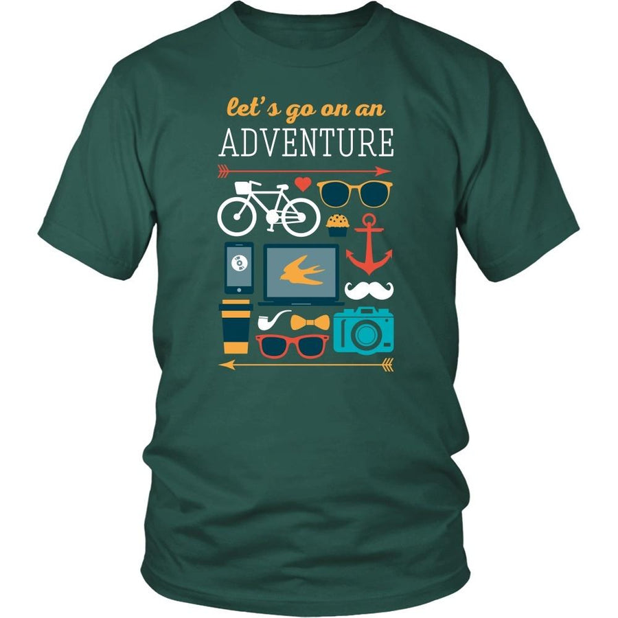 Traveling T Shirt - Let's go on an adventure-T-shirt-Teelime | shirts-hoodies-mugs