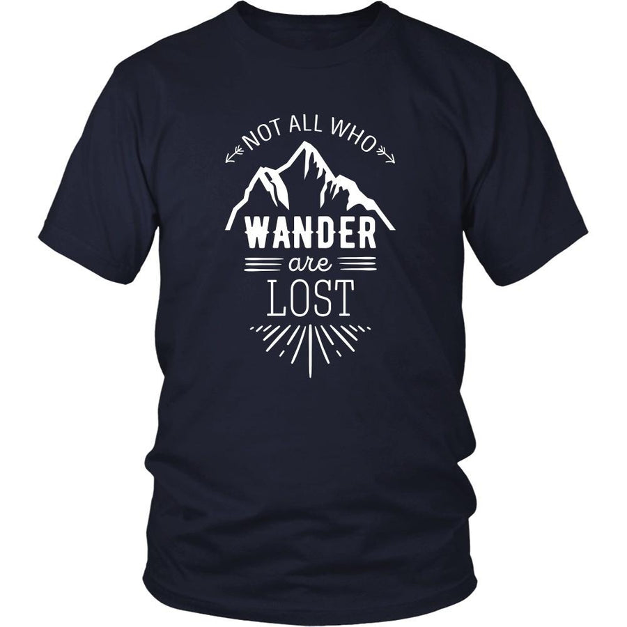 Traveling T Shirt - Not all who wander are lost-T-shirt-Teelime | shirts-hoodies-mugs