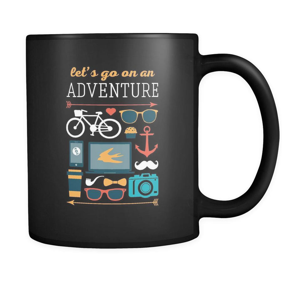 Travelling Lets go on an adventure 11oz Black Mug-Drinkware-Teelime | shirts-hoodies-mugs