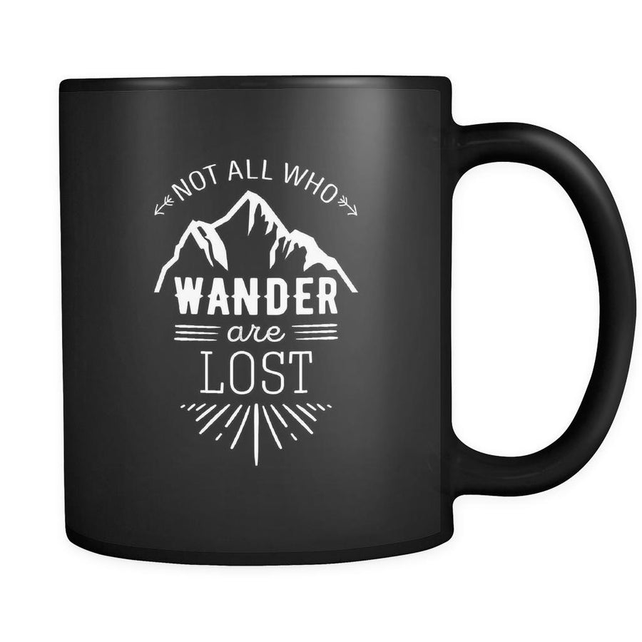 Travelling Not all who wander are lost 11oz Black Mug-Drinkware-Teelime | shirts-hoodies-mugs