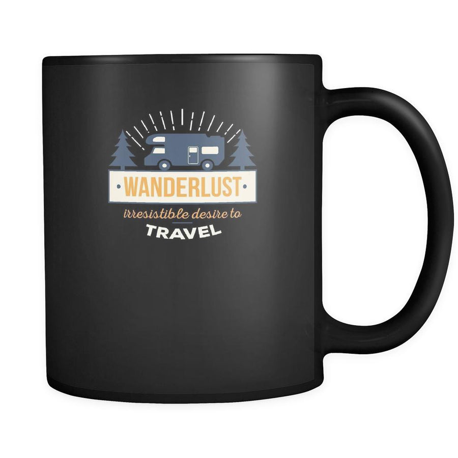 Travelling Wanderlust irresistable desire to travel 11oz Black Mug-Drinkware-Teelime | shirts-hoodies-mugs