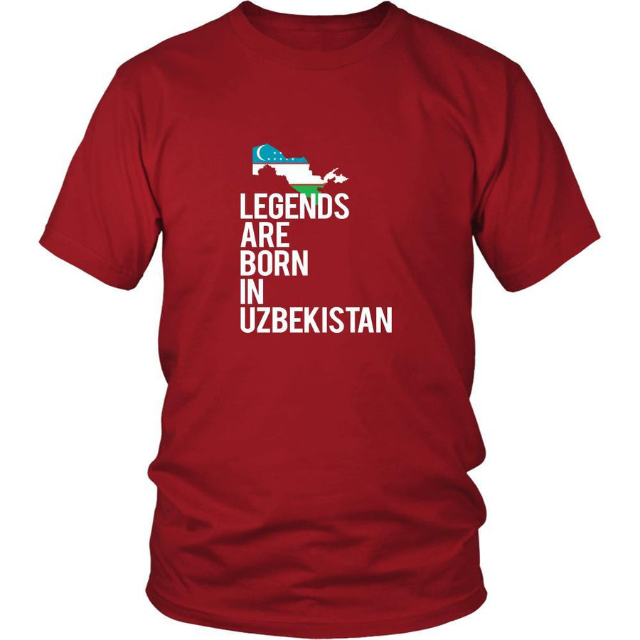 Uzbekistan Shirt - Legends are born in Uzbekistan - National Heritage Gift-T-shirt-Teelime | shirts-hoodies-mugs